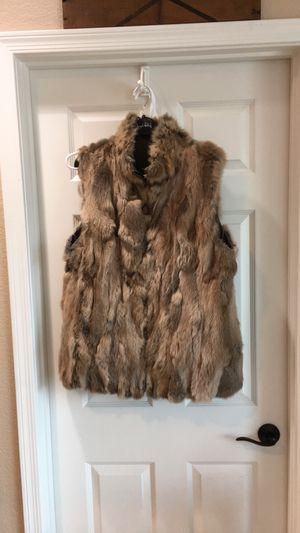 Beautiful rabbit fur vest for Sale in Tucson, AZ