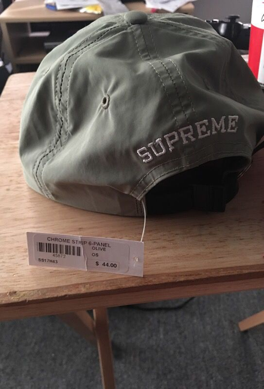 10603a69116 Chrome stripe 6-panel Supreme hat for Sale in Daly City