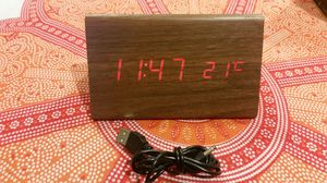 Digital alarm clock (wood grain) for Sale in Lynwood, CA