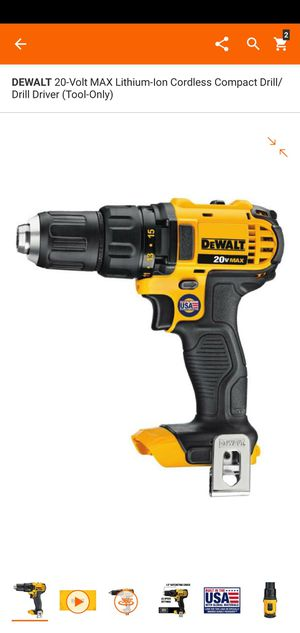 DEWALT 20-Volt MAX Lithium-Ion Cordless Compact Drill/Drill Driver (Tool-Only) for Sale in Dumfries, VA