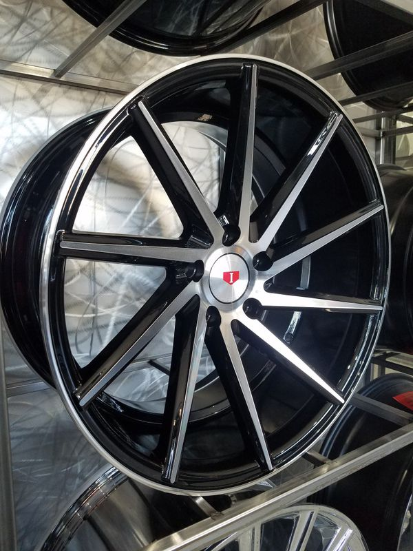 PRICE PER WHEEL 19×8.5 & 19X9.5 turbine style wheels black machine rims fits 5x114