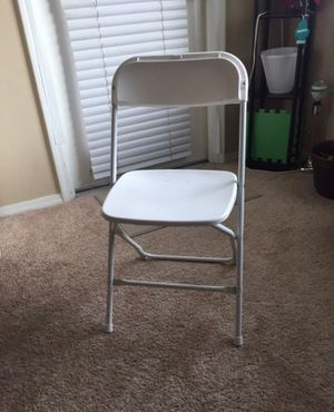 White foldable chair for Sale in San Diego, CA