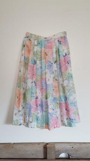 Vintage 80s 90s pastel floral flower high waisted skirt for Sale in Portland, OR