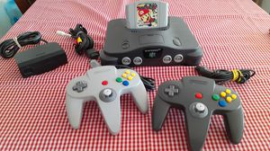 Nintendo 64 w Mario Party game 2 original controllers and cables for Sale in National City, CA