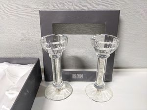 NEW Oleg Cassini Candleholder with Glitter, Set of 2, 6 inches each for Sale in San Jose, CA