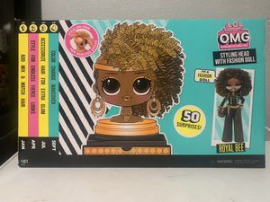 LOL OMG Royal Bee Doll & Styling Head!!! for Sale in San Bernardino, CA