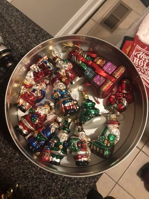 Various collectible glass Christmas ornaments - Decorations for Sale in Nashville, TN