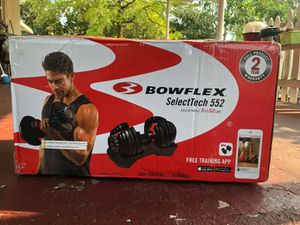 Bowflex Selecttech 552 Adjustable Dumbbells (2) Included New for Sale in Orlando, FL