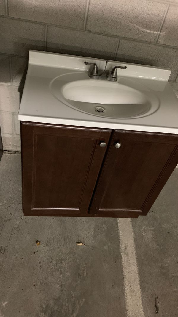 Bathroom sink cabinet like new used temporary 2 month ...