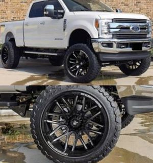 "20"" DROPSTARS Wheels & Tires Package: •20x10 Rims Gloss Black (DS-654) •33x12.50R20 M/T Tires *** •FREE Leveling Kit Complete Package Only $1999 for Sale in La Habra, CA"