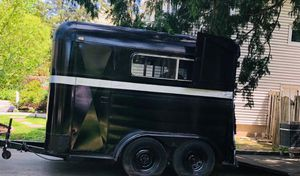 Enclosed trailer- black- good condition for Sale in ROCKAWAY BEAC, NY