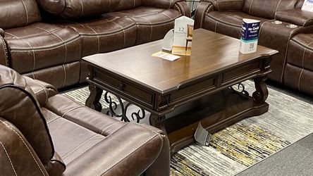 Brand New Brown Leather Manual Reclining SofaSet .$39 Down Payment For No Credit Needed Financing . Get It Today $67 Weekly Payment . 90days for Sale in Dallas,  TX