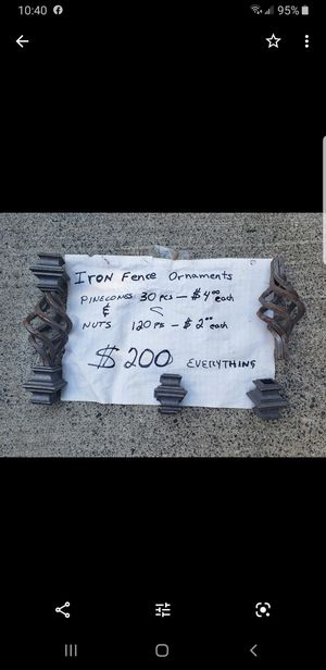 Iron Fence Ornaments for Sale in Portland, OR