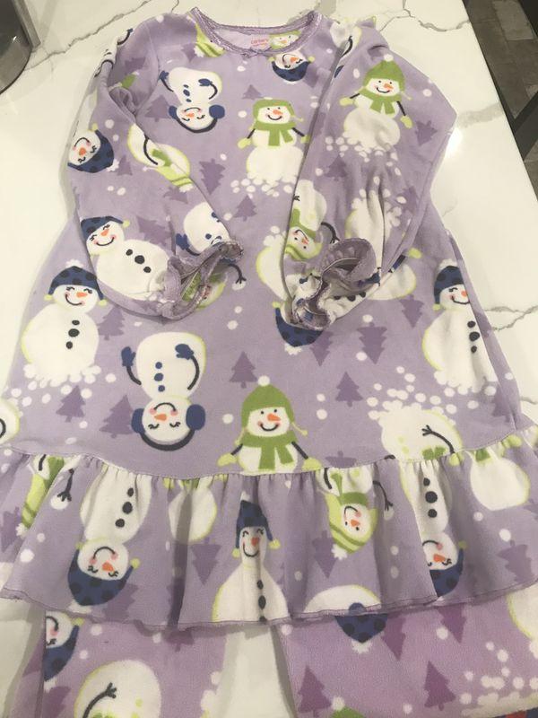 Girls snowman pajamas carters