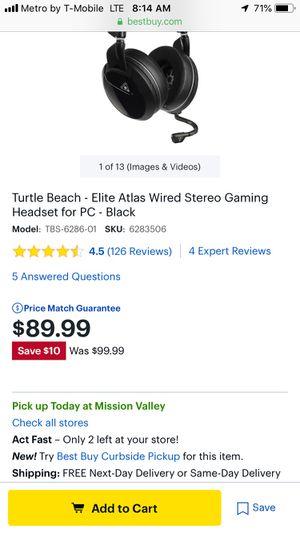 Turtle Beach Elite Atlas Gaming Headphones for Sale in San Diego, CA