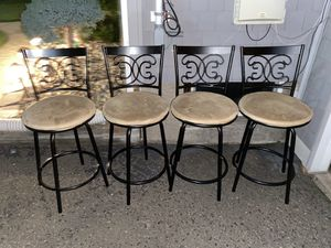 4 swivel bar/island chairs for Sale in Saddle Brook, NJ