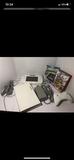 Nintendo Wii U 8GB White Console System WUP-001(02), GAMEPAD AND POWER SUPPLY. Condition is Used/Mario 3D world Nintendo land for Sale in Plantation, FL