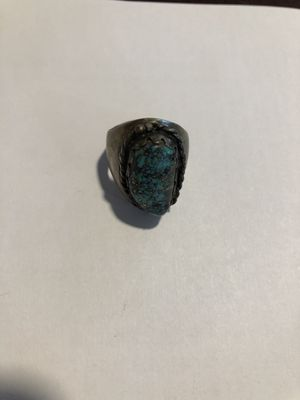 Vintage Turquoise Silver ring for Sale in Oakwood, GA