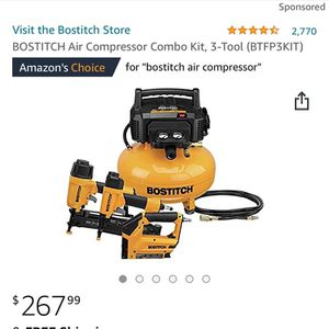 Bostich Air Compressor Nailer Combo for Sale in Bellmore, NY