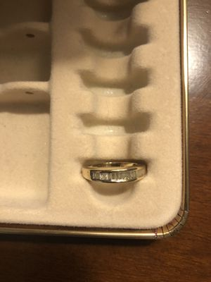 Women's Gold Wedding Band with Diamonds for Sale in Rockville, MD