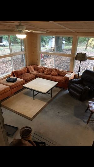 Retro sectional couch for Sale in Conyers, GA