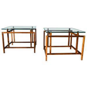 Pair Teak Architectural Frame End Tables by Henning Norgaard Denmark for Sale in Chicago, IL