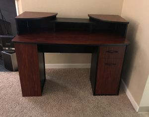 Medium sized desk with built in book shelf, cabinet, and movable top shelving- reduced price! for Sale in Bellevue, WA