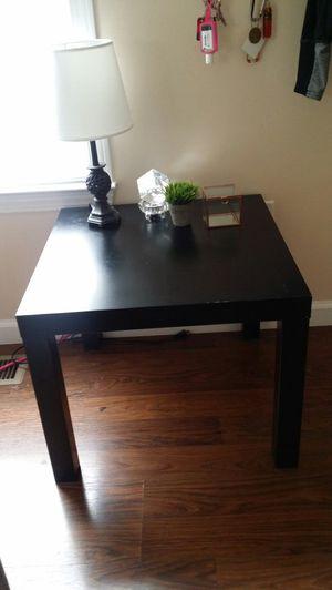 Used, Square Black End Tables Wood Lightweight for Sale for sale  Douglasville, GA