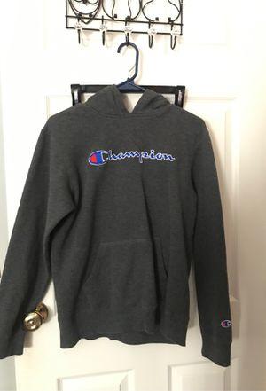XL dark grey champion hoodie worn once ! for Sale in Hemet, CA
