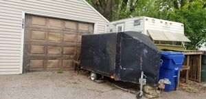 Home made trailer with ramp door for Sale in Davenport, IA