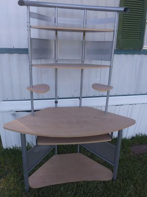 Nice Corner Desk with Multiple Shelves and Pull out Tray for Sale in Baytown, TX