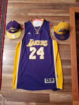 Kobe Bryant los angeles lakers jersey and caps for Sale in Lauderhill, FL