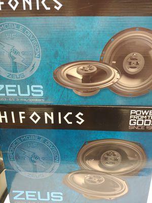 Hifonics (total 2 pairs) 1 pair hifonics 6.5 inch 3 way 300 watts & 1 pair 6×9 3 way 400 watts car speakers brand new for Sale in Bell Gardens, CA
