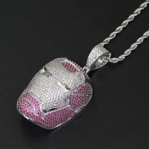 Pendant Necklace Micro Paved IRON MAN Bling CZ Jewelry with 24 Inch Rope for Sale in Washington, DC