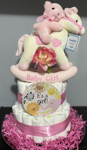Diaper cake with musical toy for Sale in Arlington, VA