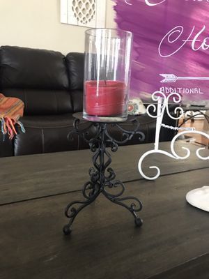Black metal candle holder for Sale in New Port Richey, FL