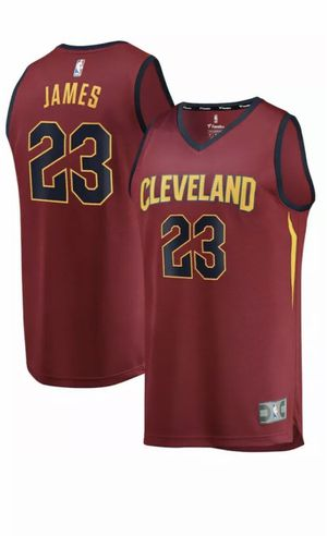 NWT Fanatics FastBreak Cleveland Cavs NBA LeBron James #23 Red Away Jersey New with tags for Sale in French Creek, WV