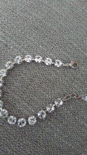 Vintage rhinestone bracelet with glass gem on end for Sale in Greensburg, PA