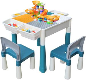 4-in-1 Multi Activity Build Table and Chair Set in Primary Color 20 inch for Kids Toddlers for Sale in Los Angeles, CA