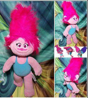 Build A Bear Trolls Poppy Plush BABW Pink Stuffed Girl Doll for Sale in Dale, TX