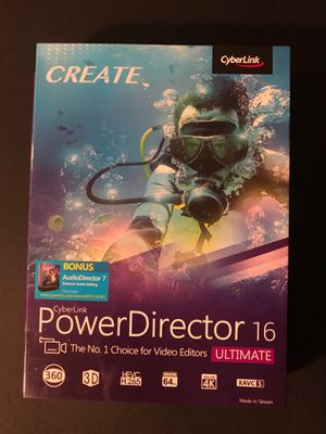 Cyberlink PowerDirector 16 Ultimate Free AudioDirector 7 included for Sale in San Diego, CA