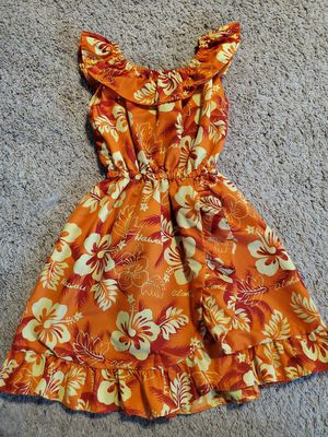 Girls Hawaiian Dress. Around 4t-4/5 cute for Moana Halloween costume or dress up Hawaii vacation for Sale in Round Lake Heights, IL