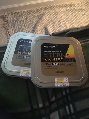 Fujifilm Eterna Vivid 160: Expired 16mm color film for Sale in Charlotte, NC