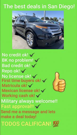 2013 FORD EXPLORER! USE YOUR STIMULUS CHECK TO BUY IT! for Sale in San Diego , CA