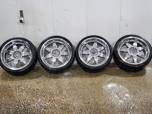 4 20 in 5x110 5x114.3 wheels rims and tires for Sale in Germantown, MD