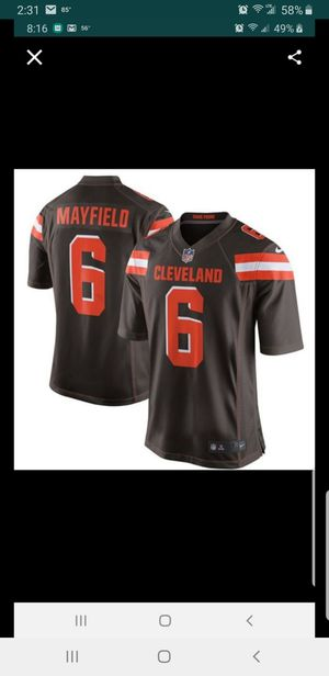 CLEVELAND BROWNS BAKER MAYFIELD JERSEY SIZE Large-3XL 100% STITCHED for Sale in Colton, CA