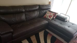 Leather sectional sofa from Ashley great condition for Sale in Fairfax, VA