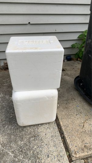 2 Styrofoam freezer boxes : Free for Sale in Wormleysburg, PA
