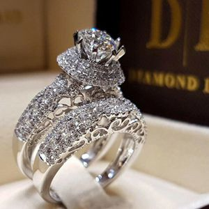 Luxury Round Cut White Sapphire CZ Ring Set Wedding Jewelry SZ 8 *See My Other 300 Items* for Sale in Palm Beach Gardens, FL