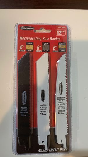 Reciprocating Saw Blades, Assortment Pack, 12 Pc. for Sale in Lakeside, CA